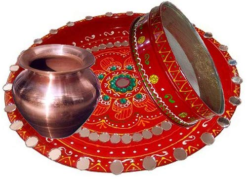 Mirror Art Pooja Thali https://www.amazon.in/Salvus-App-SOLUTIONS-Karwachauth-Special-Decorated/dp/B01LD3YUEE It is time to celebrate karwa chauth in style. This is reason; craftera represents Karwa Chauth thali set for delightful celebration. This Karwa Chauth thali set is handmade items that are made of exclusive kundan pieces and beautiful Stones studded. So, celebrate karwa chauth with our special Karwa Chauth thali set. Mirror Art Pooja Thali, Special Decorated Mirror Art Pooja Thali