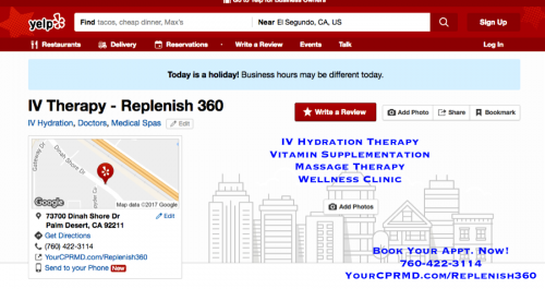 """Replenish 360: IV Hydration Therapy and Wellness Services  https://www.wattpad.com/user/smarmanali65  Replenish 360 offers one of the most affordable wellness and preventative services that are personalized and one of the most activating one-of-a-kind IV drip and infusions, vitamin and antioxidant supplementation, micronutrient therapy, and other additional supplementary wellness services to """"renew your body, refresh your mind, and restore performance.""""  IV Hydration Therapy Palm Springs CA"""